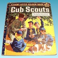A Giant Little Golden Book: Cub Scouts, 1959, A Edition