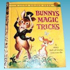 Little Golden Book: Bunny's Magic Tricks - 1962