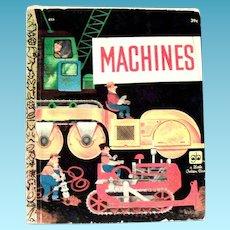 Little Golden Book: Machines - 1961, B Edition