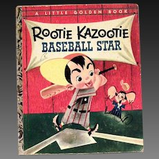 Little Golden Book: Rootie Kazootie Baseball Star - 1954