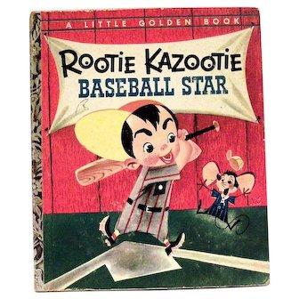Little Golden Book: Rootie Kazootie Baseball Star - 1954