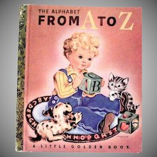 Little Golden Book: The Alphabet From A To Z - 50th Anniversary Commemorative Reprint