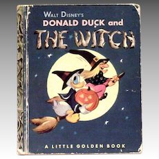 Little Golden: Disney's-Donald Duck And The Witch Children's Book-1953
