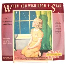 Peter Pan Records: When You Wish Upon A Star Children's Record - 1954