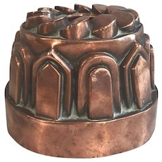 Antique English Victorian copper pudding mould circa 1870