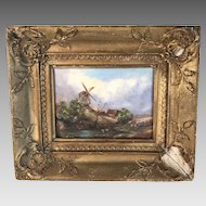 Antique 19th Century Dutch landscape in oil