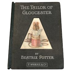 Antique Beatrix Potter book The Tailor of Gloucester genuine first 1st edition 1903