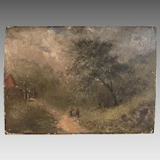 Antique English 18th Century landscape in oil