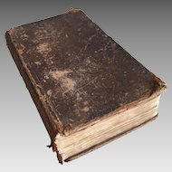 Antique leather bound religious book dated 1791 Festivals and Feasts of the Church of England