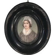 Antique portrait miniature oil painting of HRH Duchess of Kent