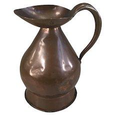 Antique English Georgian copper measure