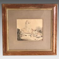 Antique watercolour painting by JS Cotman