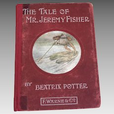 Antique Beatrix Potter book The Tale of Mr Jeremy Fisher genuine first 1st edition 1906