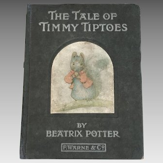Antique Beatrix Potter book The Tale of Timmy Tiptoes genuine first 1st edition 1911