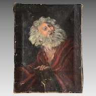 Antique oil painting of Shakespeare's King Lear dated 1896