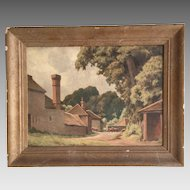 Antique Impressionist oil landscape painting