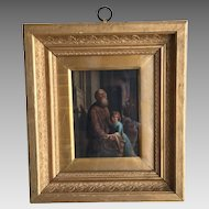Antique 18th Century Continental portrait in oil no 3