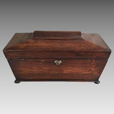 Antique English 19th Century sarcophagus shaped tea caddy