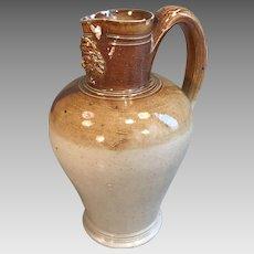 Antique English Salt Glaze small Stoneware Jug
