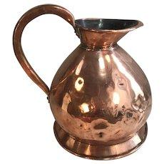 Large antique copper liquid measure 1 gallon