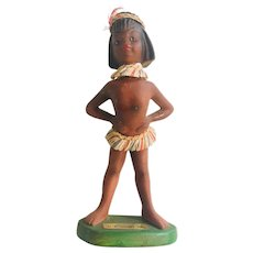 Vintage Native American/Indian Girl Statue Souvenir of St. Petersburg by Wave Japan