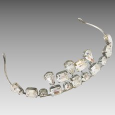 Art Deco Inspired Vintage Swarovski Crystal Tiara - Bridal Wedding Quincenera