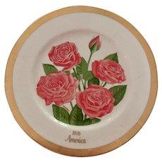 Gorham Rose Society Bi Centennial  Limited Edition America Plate 1976