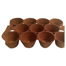 "Primitive Antique Baking Muffin 11 Count Cast Iron Pan 7"" x 11"" Griswold #10"