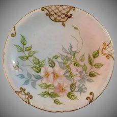 Jean Pouyat Limoges Soft Floral Plate Elaborate Gold Gilt Artist Signed