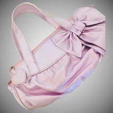 Felix Rey Vintage Metallic Pink Handbag Neiman Marcus 1980's