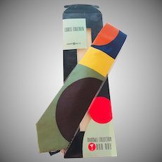 "Vintage Chris Coleman Highball Collection Tie ""Rob Roy"" Harmony Ball Co."