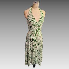 Vintage Donna Ricco New York Summer Halter Dress