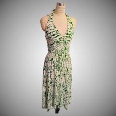 Vintage Donna Ricco New York Summer Halter Dress