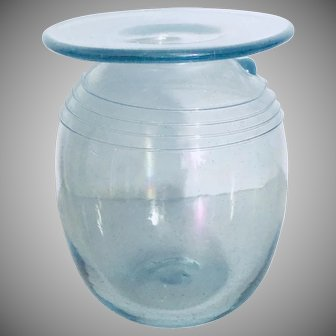 Vintage Verrerie La Mailloche Quebec Studio Art Glass Vase, 1970s