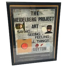 Heidelberg Project Tyree Guyton Hand Signed Lithograph Original Sign Salvaged from the 1991 Demolition
