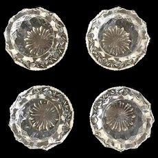 Set of 4 Vintage Early American Pattern Glass (EAPG) Salt Cellars