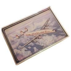 "Vintage Trans World Airlines Lockheed ""Constellation"" TWA Playing Cards Plastic Case"