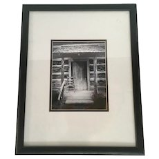 The Farmhouse - a Photographic Study in Black and White Framed under Glass