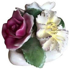 Fine China English Floral Bouquet in Shell by Aristocrat