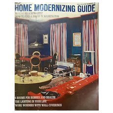 Home Modernizing Guide Number 32, 1960's Home Improvement Advertizing Magazine
