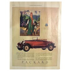 "1927 Automobile Advertising  Packard  ""Ask The Man Who Owns One"""