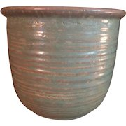 Western Stoneware - Monmouth Pottery Ringed Pot # 935 in Pale Sage glazed Yelloware