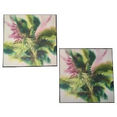 Vintage Stylized Nature Prints by Michigan Artist Brenda Klein, Fiber Artist