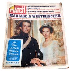 Vintage Pan Am Match Magazine 1973 - Marriage A Westminster!
