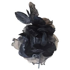 Vintage Millinery/Hair Adornment Hand Crafted Chiffon & Fabric Roses