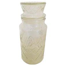 Vintage Planters Peanuts Mr Peanut 1983 Glass Canister Jar