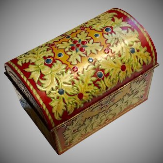 Lipton Tin-Litho Jewel Casket, 1930's