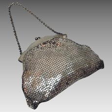 Whiting and Davis Vintage Silver Tone Petite Evening Bag,1950's