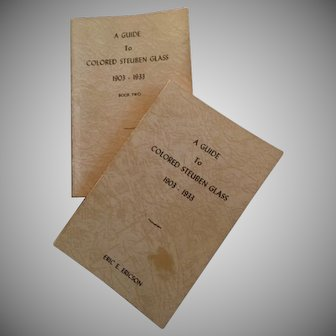 A Guide to Colored Steuben Glass Set of 1st Edition Books published in 1933