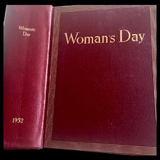 Woman's Day Leather  Bound 12 Month Collection of 1952's Issues of this Iconic Magazine